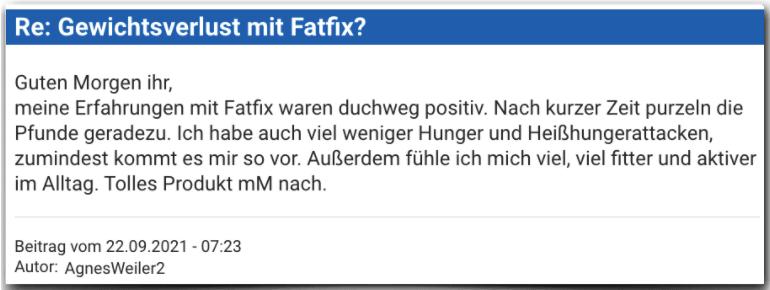 Fatfix Erfahrungsbericht Bewertung Erfahrungen Fatfix