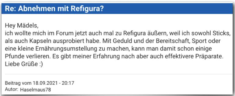 Refigura Erfahrungsbericht Bewertung Erfahrungen Refigura