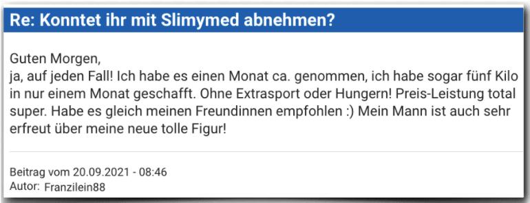 Slimymed Erfahrungsbericht Bewertung Erfahrungen Slimymed