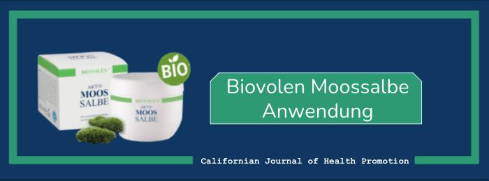 Biovolen Moossalbe Anwendung