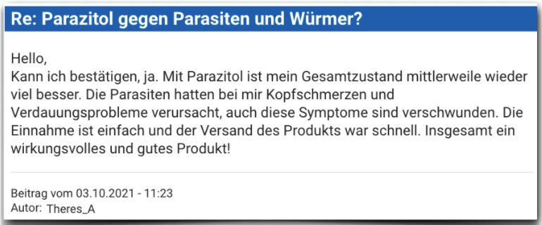 Parazitol Erfahrungsbericht Bewertung Erfahrungen Parazitol