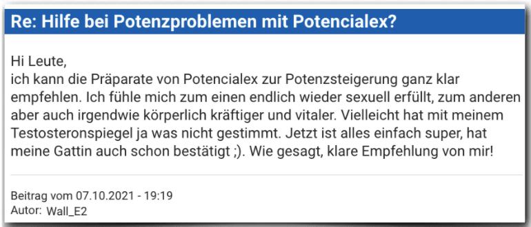 Potencialex Erfahrungsbericht Bewertung Erfahrungen Potencialex